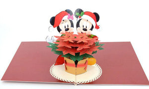 Mickey and Minnie Christmas - Henry Pop-Up Cards