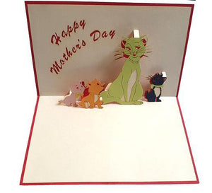 Mother's Day Cats - Henry Pop-Up Cards