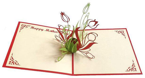 Mother's Day Tulip - Henry Pop-Up Cards