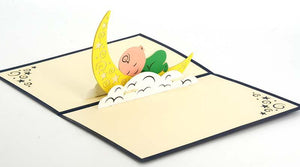Baby Sleeping on the Moon - Henry Pop-Up Cards