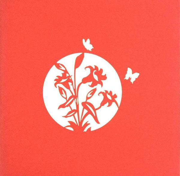 Orchid1-Red - Henry Pop-Up Cards
