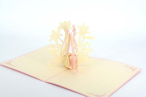 Orchid2-Pink - Henry Pop-Up Cards