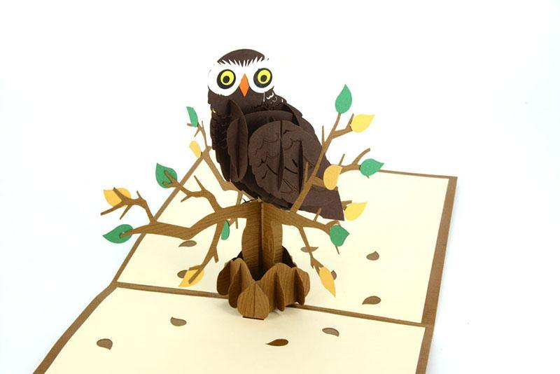 Owl 3D - Henry Pop-Up Cards
