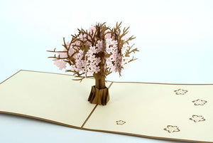 Pink Cherry Blossom 3D - Henry Pop-Up Cards