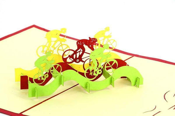 Racing Bikes - Henry Pop-Up Cards