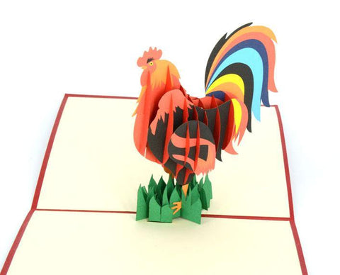 Rooster 3D - Henry Pop-Up Cards