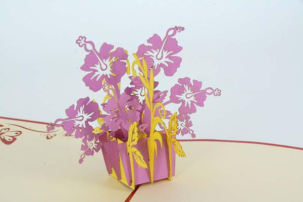 Rose Mallow - Henry Pop-Up Cards