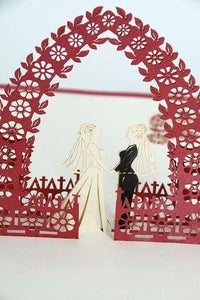 Two ladies wedding card
