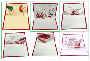 Christmas Santa bundle - 6 cards