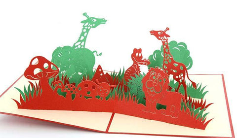 Safari 1 - Henry Pop-Up Cards