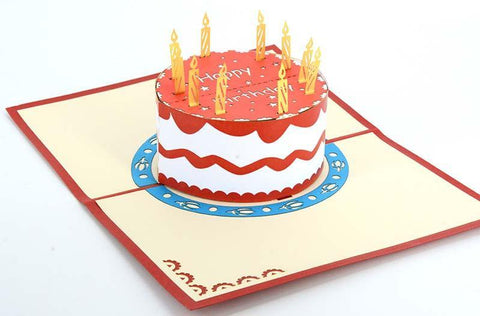 Strawberry cake Happy birthday - Henry Pop-Up Cards