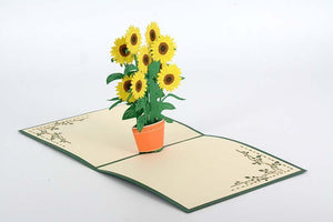 Sunflower - Henry Pop-Up Cards