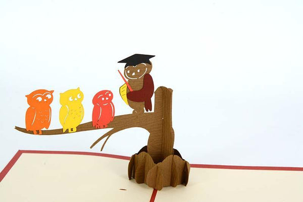 Teaching Owl and babies - Henry Pop-Up Cards