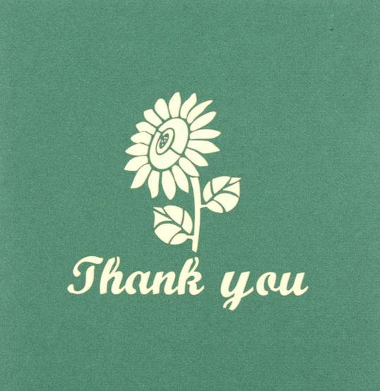 Thank You Sun Flower - Henry Pop-Up Cards