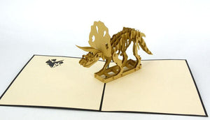 Triceratops Dinosaur - Henry Pop-Up Cards