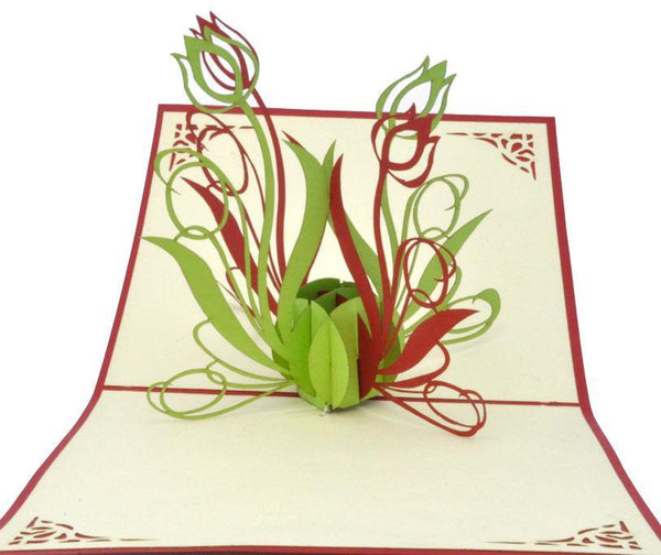Tulip Flower - Henry Pop-Up Cards