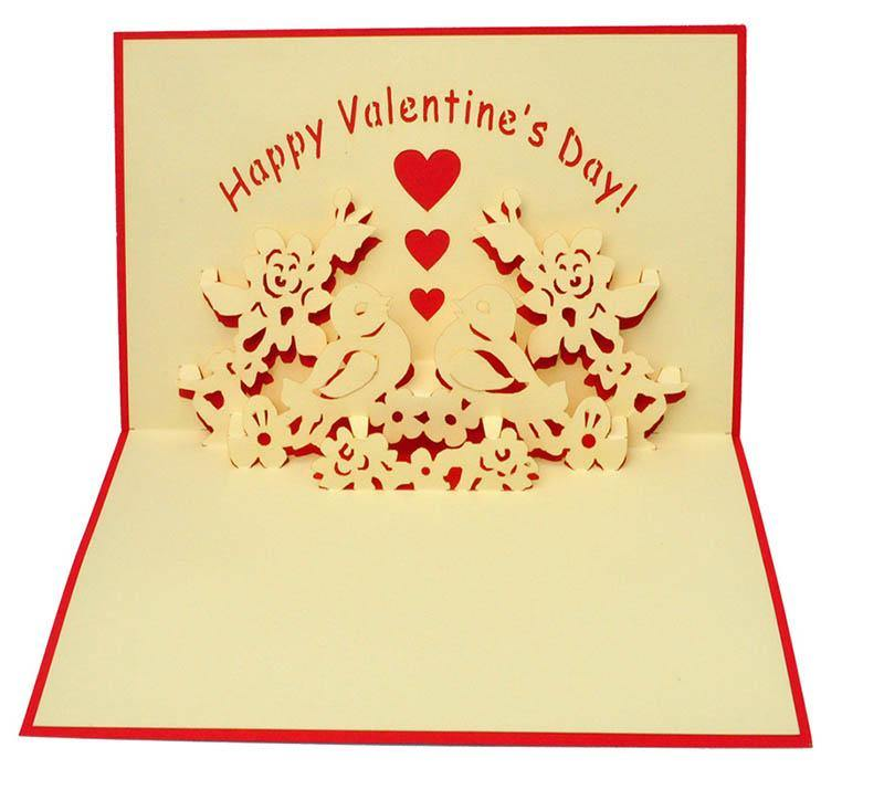 Two Birds - Happy Valentine's - Henry Pop-Up Cards
