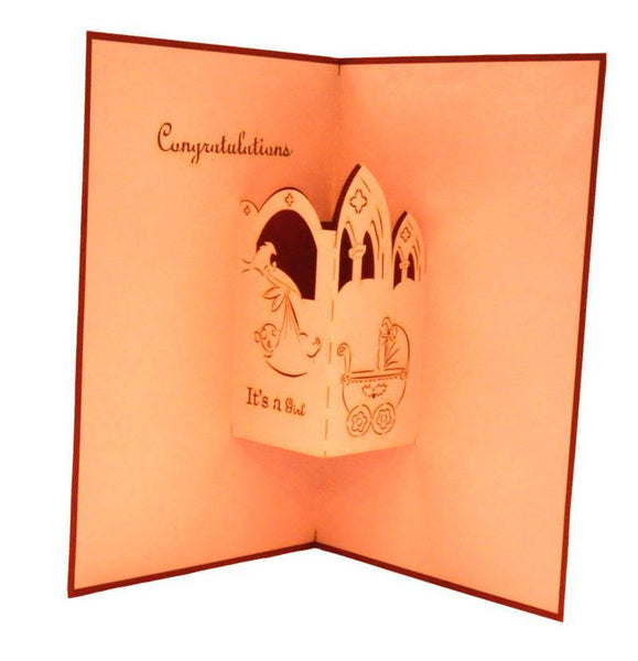 It's a Girl - Henry Pop-Up Cards