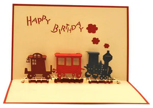 Birthday Train - Henry Pop-Up Cards