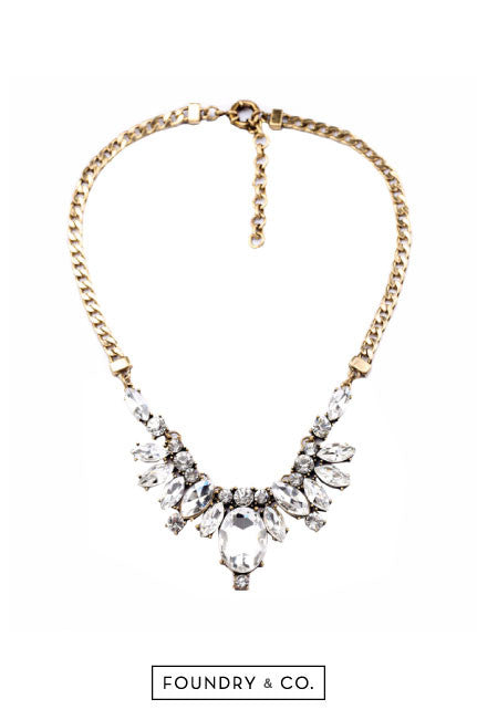 Lethe Crystal and Chain Necklace [LAST PIECE]