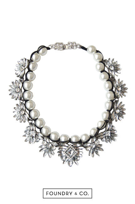 Narcissus Pearl Rope Crystal Necklace [48% OFF]