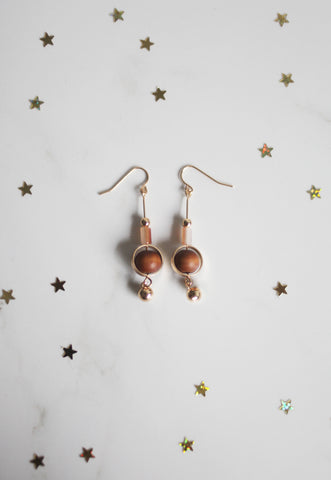 Abisha Eardrops in Brown