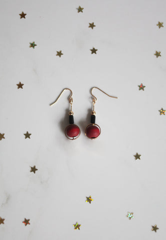 Abisha Eardrops in Red [22% OFF]