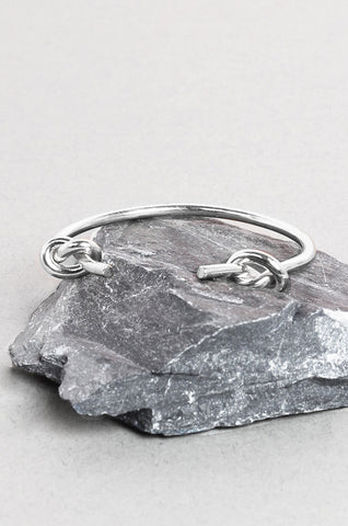 Aphrodite Double Knot Bracelet in Silver