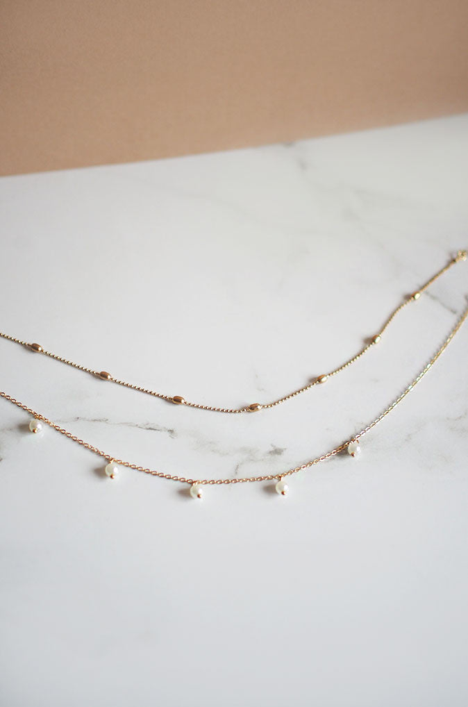 Arlai Choker Set in Gold