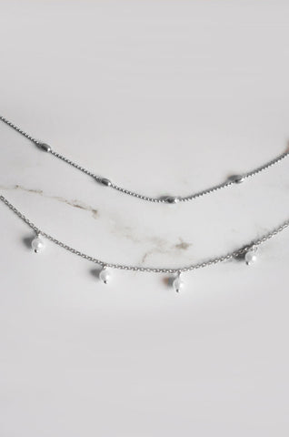 Arlai Choker Set in Silver