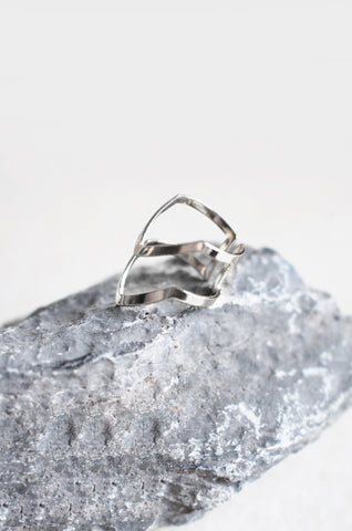 Armour Stacked Ring in Silver [38% OFF]