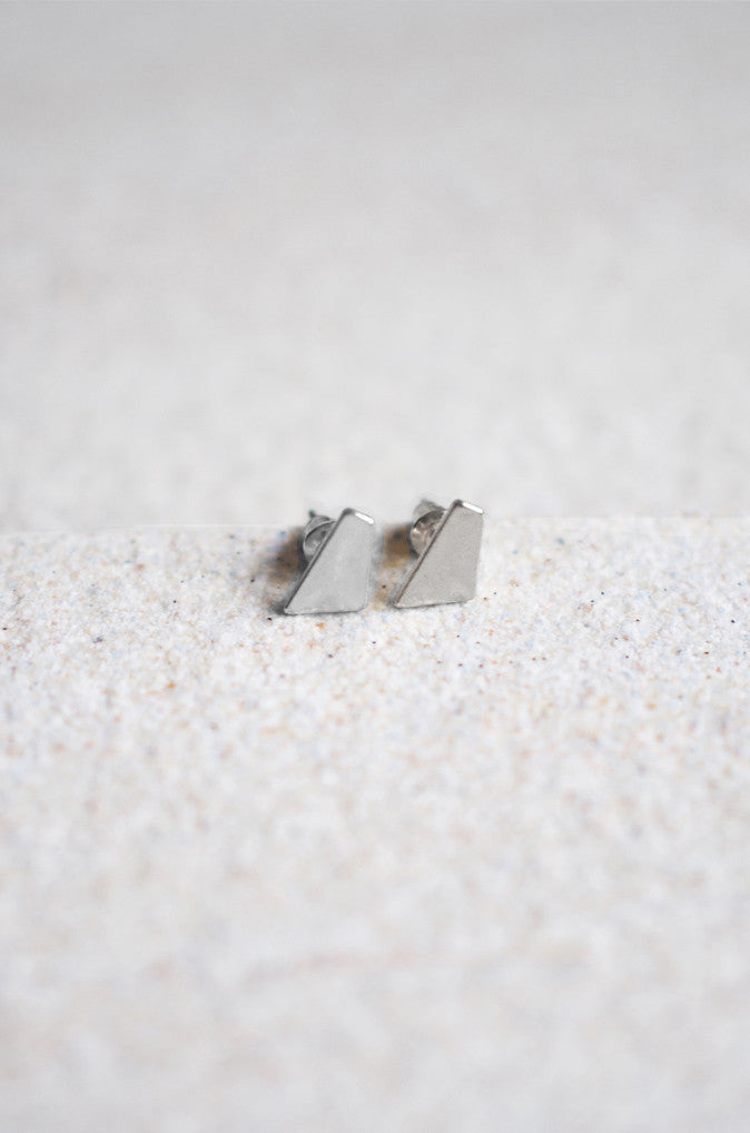 Asymmetrical Studs in Silver [LAST PIECE]