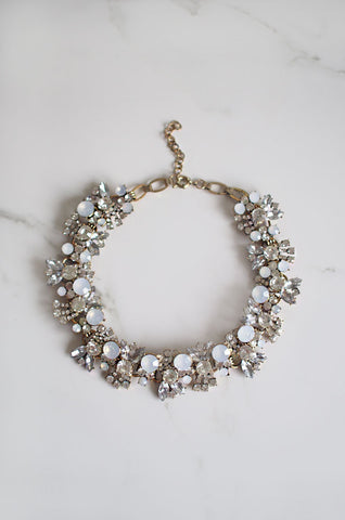 Aegeus Pearl and Crystal Chain Necklace