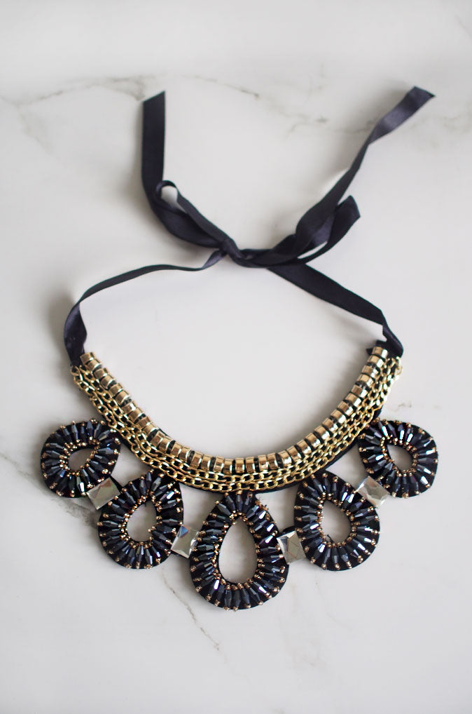 Danaus Gem Beaded Necklace