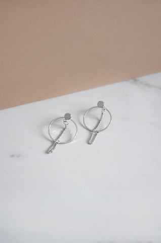 Bhab Hoop Earrings in Silver