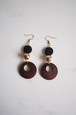 Bois Dangly Earrings (Reverse Colours)