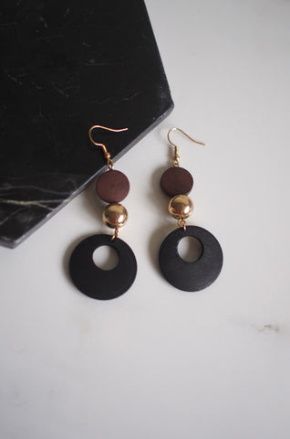 Abisha Eardrops in Brown [17% OFF]