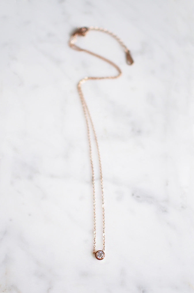 Ciorcal Necklace in Rose Gold [BACKORDER]