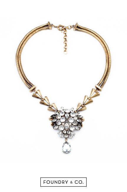Calliope Crystal Drop Pendant Necklace