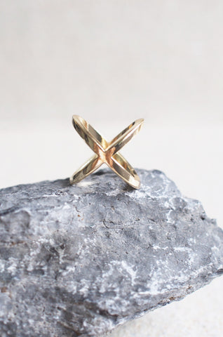 Closed Cross Ring in Gold [48% OFF]