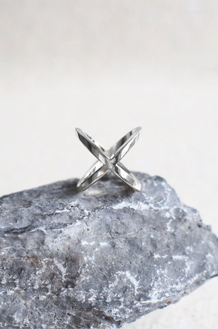Closed Cross Ring in Silver [48% OFF]