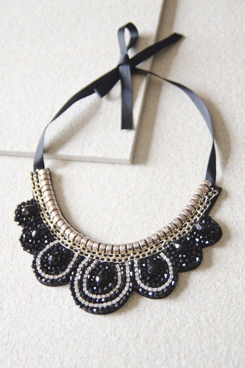 Cephal Gem Beaded Necklace