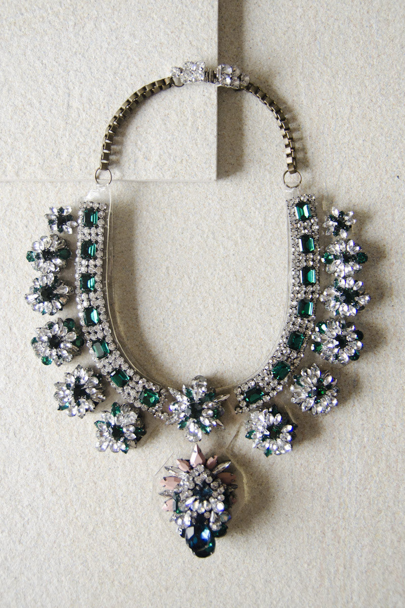 Phaedra Brilliant Gem Necklace in Emerald [PREMIUM]