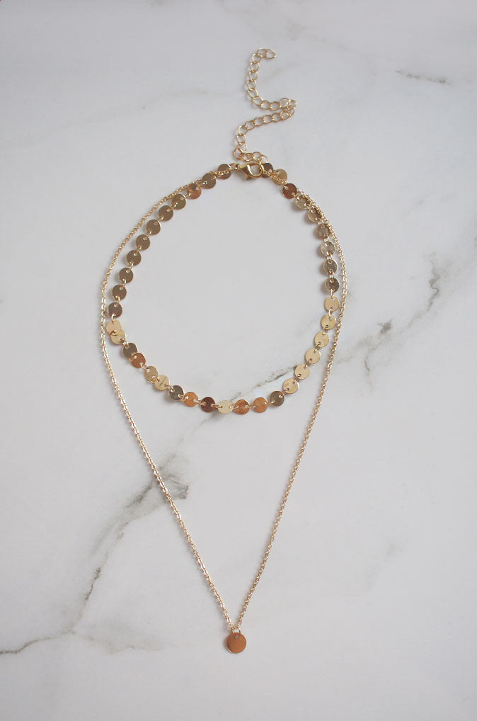 Dio Layered Necklace in Gold [22% OFF]