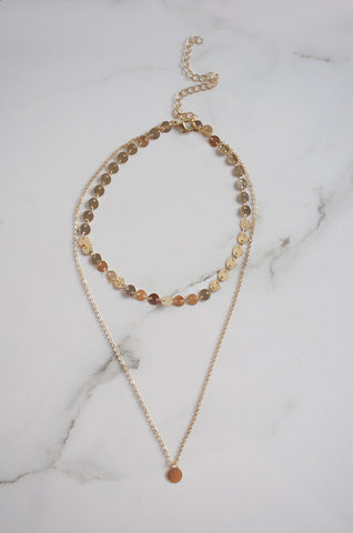 Dio Layered Necklace in Gold [42% OFF]