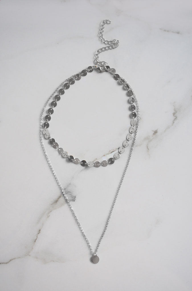 Dio Layered Necklace in Silver [42% OFF]