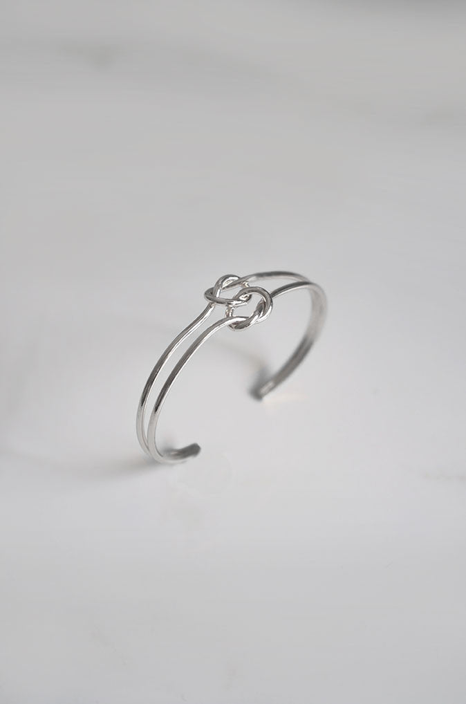 Linked Double Bracelet in Silver