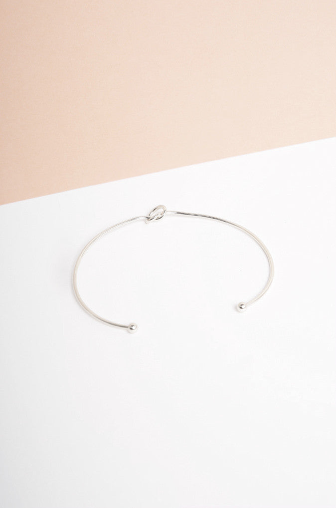 Dryun Knot Choker in Silver [45% OFF]