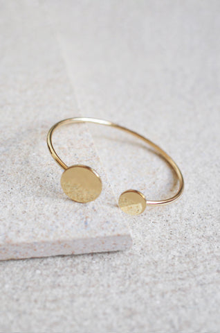 Duo Circle Bracelet in Gold [LAST PIECE]