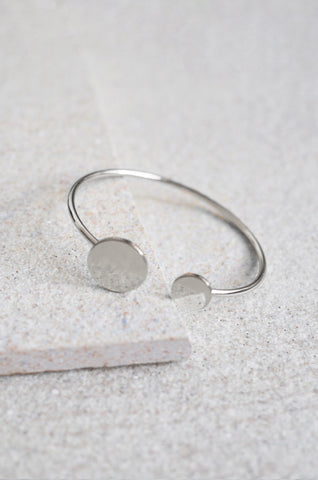 Duo Circle Bracelet in Silver [LAST PIECE]